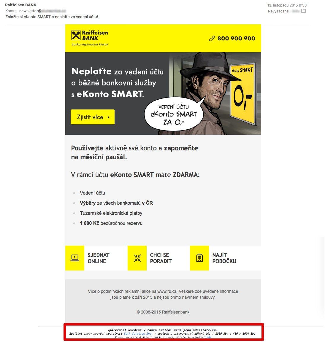 Raiffeisenbank spam